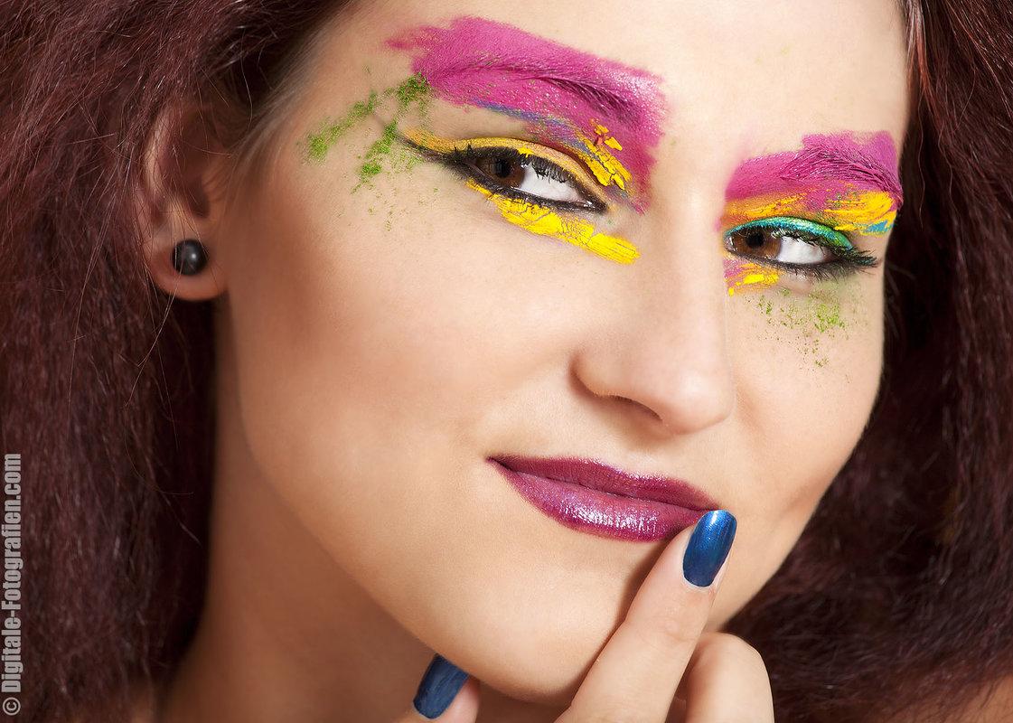 Extreme Makeup Shooting Im Fotostudio In Essen